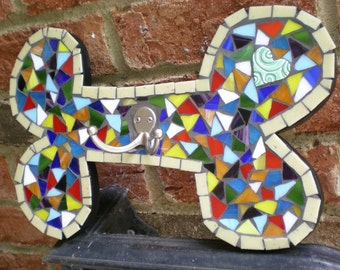 Dog Bone Mosaic Leash Hanger for the Wall