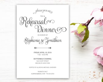 Whimsical Rehearsal Dinner Invitation