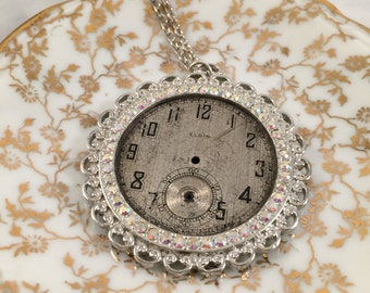 Steampunk Necklace, Clock Part Necklace, Gift for Her, Best Friend Gift, Teacher Gift, Gift Under 30,
