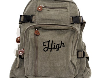 SALE Backpack, High, Canvas Backpack, Hipster Backpack, Laptop Bag, Travel Satchel, Backpack Men, Rucksack, College Backpack, Back to School