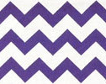 Handmade Purple White Chevron Fitted Crib Sheet