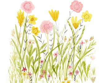 Field of Flowers - archival art print