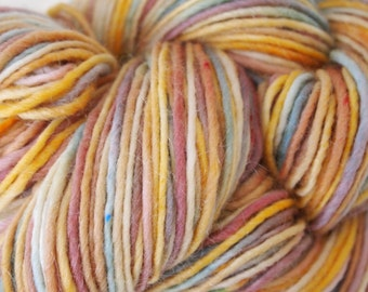 TUCSON Handpainted Yarn Wool Mohair 167 yards Worsted Weight Knitting Aspenmoonarts Hand Painted
