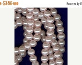 CLEARANCE 4mm Blush Pink Glass Pearl Round Beads