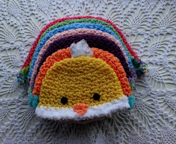Crochet Hat Pattern Chicken Hat Diaper by PatternsByKrissy