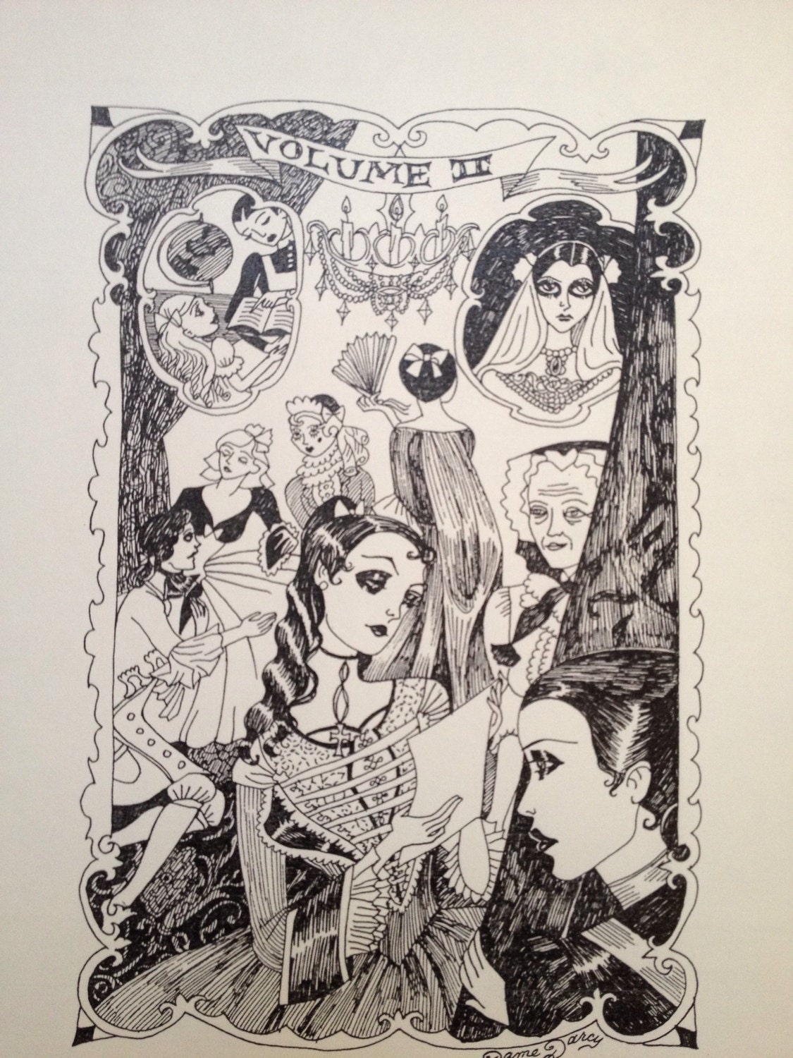 Jane Eyre Adult Coloring Book Gothic Illustration By Damedarcy