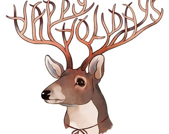 Happy Holiday Cards / Reindeer