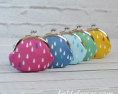 Clasp Change Coin Purse Set of 5 Raindrop Earbud Holder Kisslock Purse Rosary Case Jewelry Case Metal Frame Purse