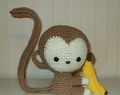 Made to order - Cute Monkey Amigurumi - pose-able stuffed toy