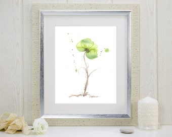 """Watercolor flower print: """"Olive Orchid"""""""
