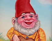 Gnome with Guitar - Original painting by Mr. Hooper of Nashville Tennessee
