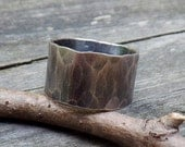 20% OFF TODAY - Man Ring ...11mm wide RUGGED weathered sterling silver ring men's rustic ring mens wide band ring mens wedding band rustic w