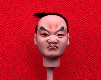 Japanese Doll Head - Hina Matsuri - Japanese Doll Festival - Boy Head - Man's Head - Vintage Doll Head D11-43