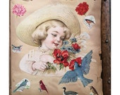 1800's Scrapbook with 288 Die Cuts and Assorted Paper Ephemera