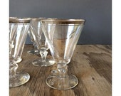 1950s Water Glasses - Silvered  Glasses - Set of 6