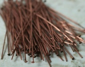 Antique copper head pin 23g thick 40mm long, 100 pcs (item ID YWACHC00275)