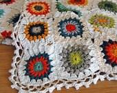 Granny Square Blanket, Crochet Blanket, House Warming Gift, Throw, Handmade Blanket, Crochet Granny Square Blanket