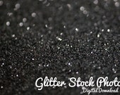 Black Glitter Stock Pack - Christmas stock photography, black glitter photos, personal use license