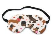 Dog Love Sleep Eye Mask, Sleeping Mask, Travel Mask, Eye Mask, Sleep Mask, Travel Gift