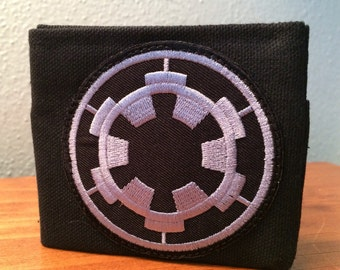Star Wars Imperial handmade black canvas lightweight sturdy wallet