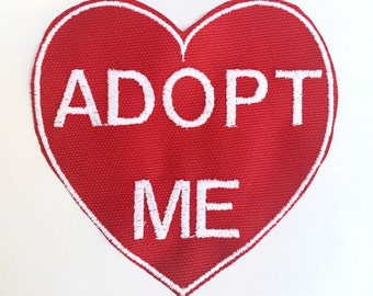 ADOPT ME patch - 3.5 x 3.5 embroidered patch