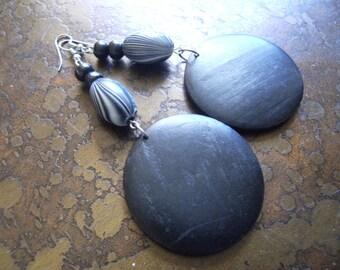 Take a Swirl Acrylic and Wood Beaded Dangle earrings