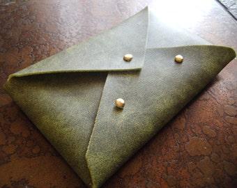 Moss Green Vinyl Card Case