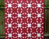 Joyeux Noel Star Crossed Quilt Throw Blanket