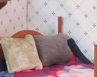 Set of two miniature decorative pillows