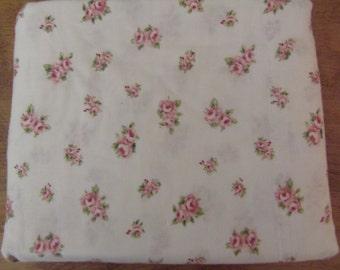 Treasures Rachel Ashwell Fat Quarter of  Rosebud Cotton Twill Sheet Fabric  New OLD STOCK Unwashed Fabric sewbuzyb sst