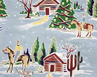 Western Winter - Fabric By Alexander Henry - Light Blue - 1 Yard - 10.50 Dollars