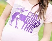 Can't Touch This Maternity Tshirt Peach Pink (Made in USA)