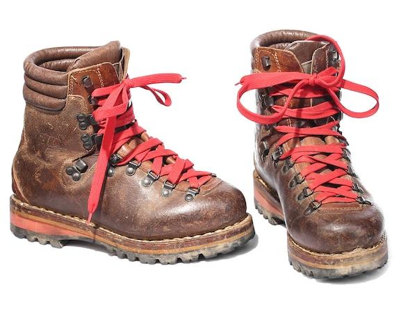 survivor boots vintage alpine sturdy boot camel brown leather