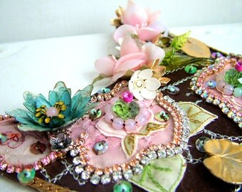 Down by the Lilly Pads -  OOAK Neckpiece - Ready to ship xx