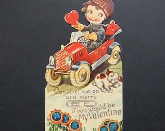 Vintage Paper Valentine Greeting Card Antique Original