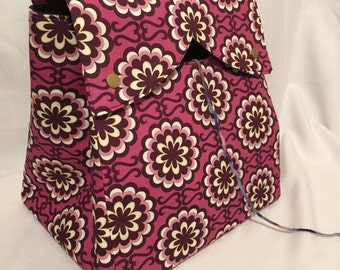 Large Serena Knitting Bag or Yarn Project Bag