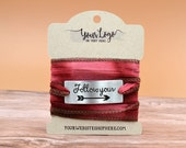 Wrap Bracelet Display Cards for Packaging Retail | 48 CARDS|  Hair Ties | Necklaces | DS0133