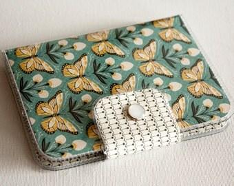 Handmade Vinyl Passport Case - Wingspan / travel, passport, vinyl, woman's, wallet, snap, paper, butterfly wallet, butterflies, case