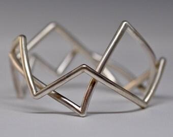 Ziggy Bracelets - handmade sterling silver bangles