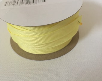 6 yds maize yellow grosgrain ribbon