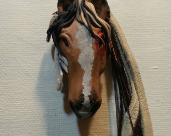 Indian War Pony Spirit Horse Customize Your Horse in Polymer Clay Necklace Pendant