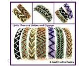 Beadweaving Tutorial, Bracelet Pattern, 2-hole Triangle Pattern, Czechmate Pattern, .pdf Instructions for Personal Use