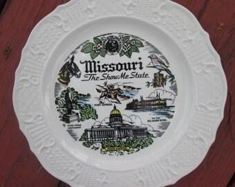 Vintage Souvenir Plate - Missouri - Wall Art