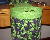 Thread Catcher // Scrap Caddy // Pin Cushion // With Rubberized Gripper Strip // Blueberries