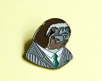 Enamel Pin - Sloth Gentleman - Ryan Berkley Illustration - Pin - Business Sloth