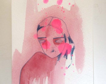 original painting on paper-remembering