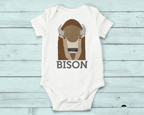 Bison- onesie, baby girl, baby boy, baby gift, baby girl clothes, baby boy clothes, baby onesie, animals, cute onesies, infant bodysuit