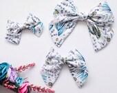 CLEARANCE - Floral Tea Sailor Bow