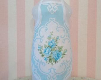 Blue Rose Bottle Apron