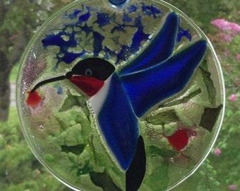 Blue Hummingbird Sun-catcher